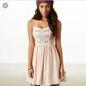 American Eagle pink champagne colored dress